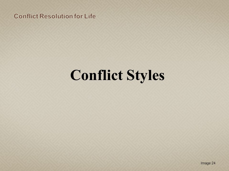 Image 24 Conflict Styles
