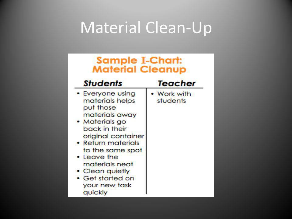 Material Clean-Up