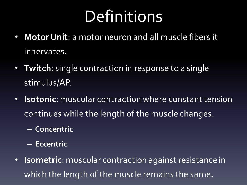 Isotonic Contraction