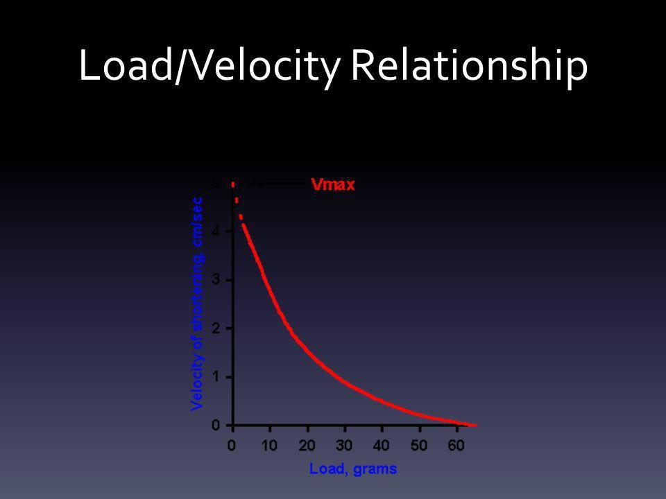 Load/Velocity Relationship