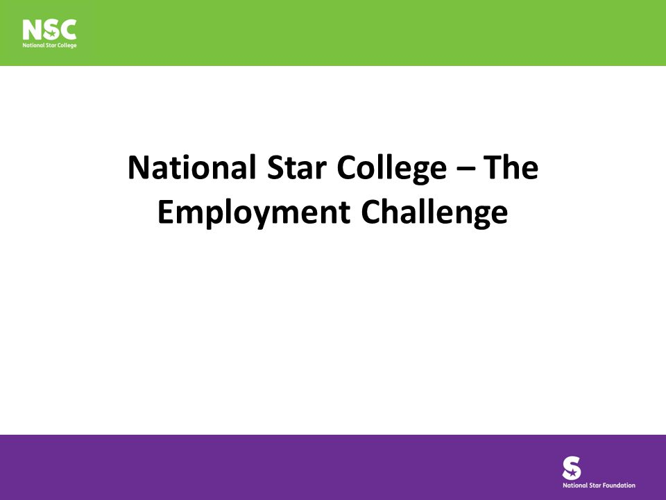 National Star College – The Employment Challenge