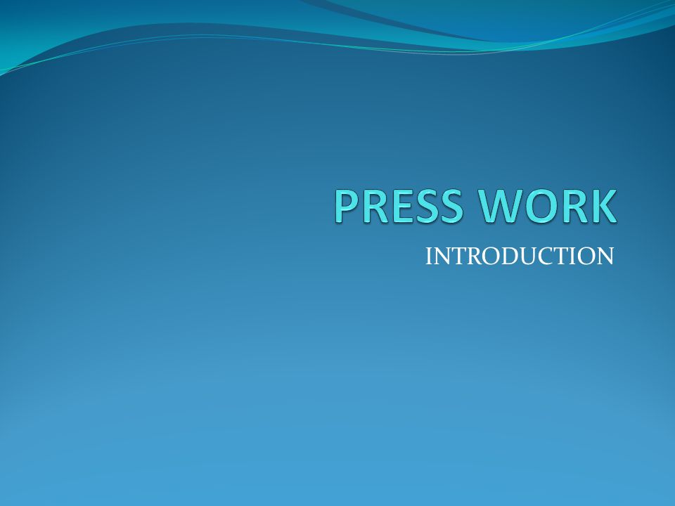Press working is a method of mass production involving the cold working of metals, usually in the form of thin sheet or strip.
