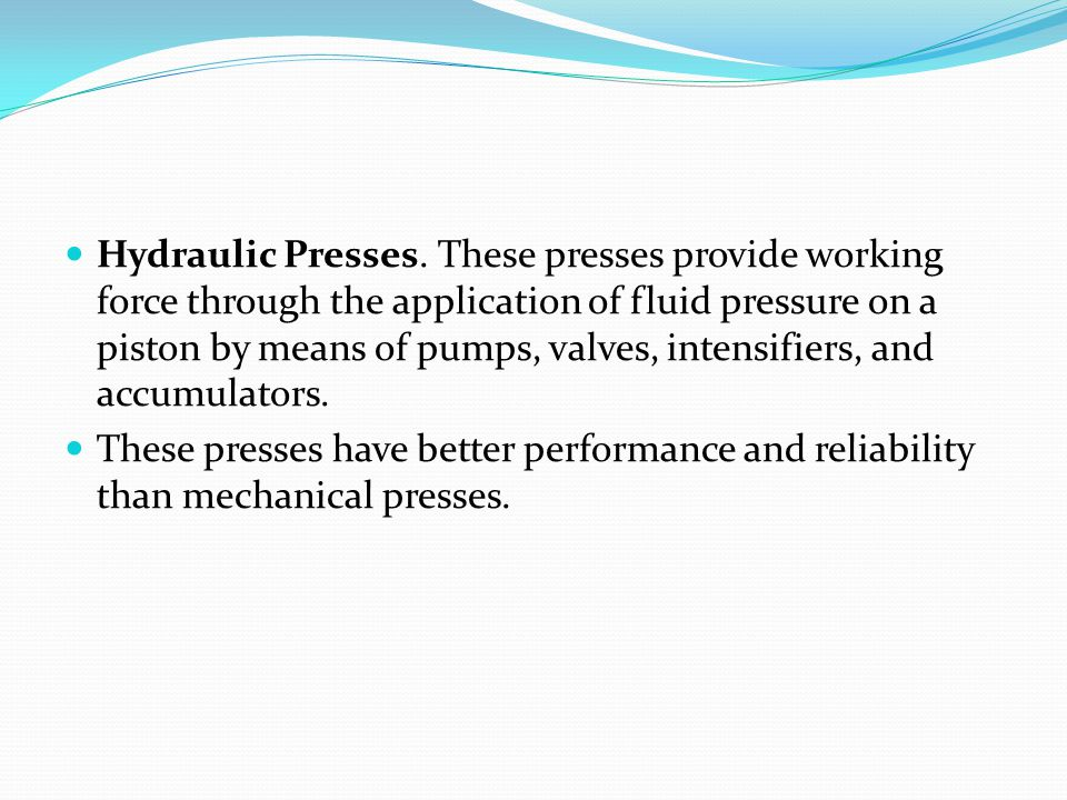 Pneumatic Presses.These presses utilize air cylinders to exert the required force.