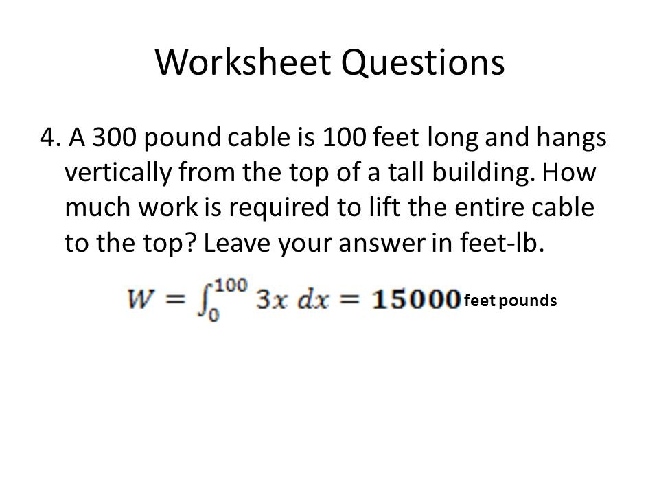 Worksheet Questions 4.