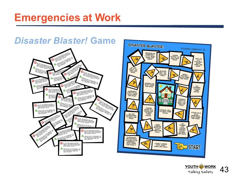 Disaster Blaster! Game Emergencies at Work 43