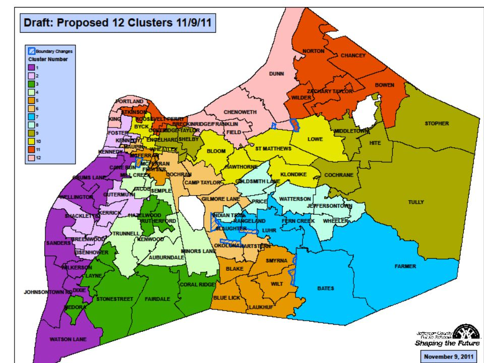 12 Cluster Plan Analysis 11/9/11 – Elementary Resides Students Cluster Number of Schools Total K-5 Cluster Capacity No Magnets Student Count w/o Traditional, Magnet, or Special Needs Available Capacity Average Diversity Score% Cat.