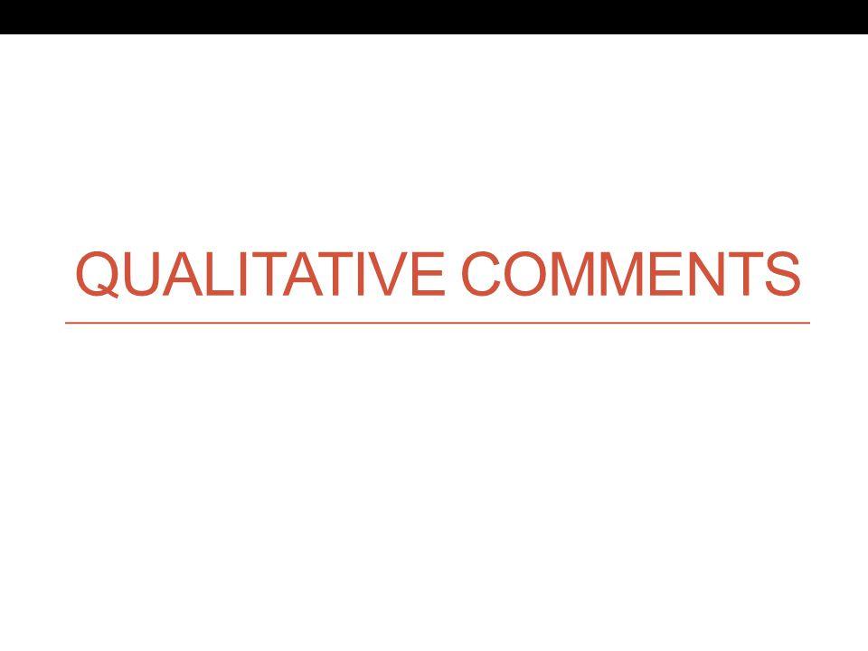 QUALITATIVE COMMENTS