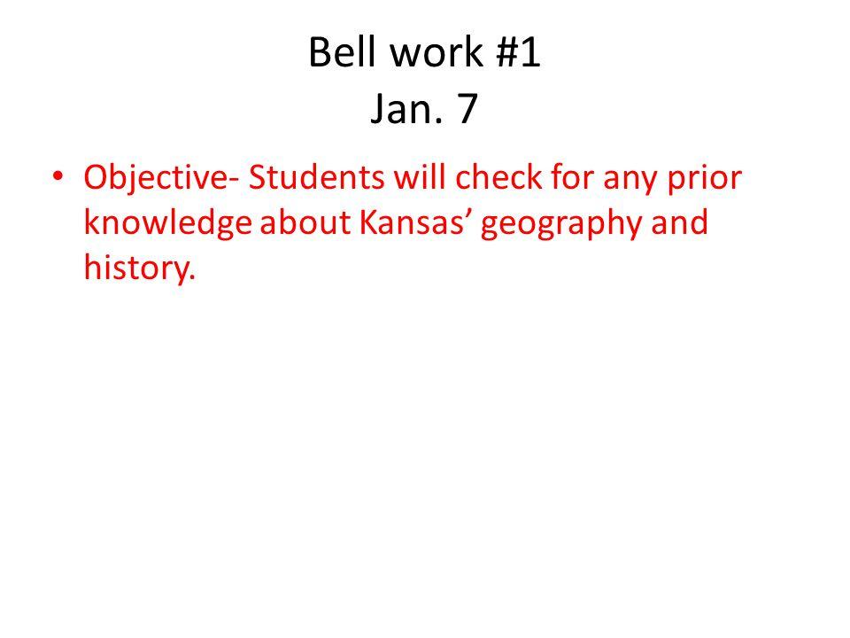 Bell work #1 Jan.