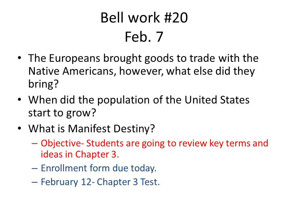 Bell work #20 Feb.