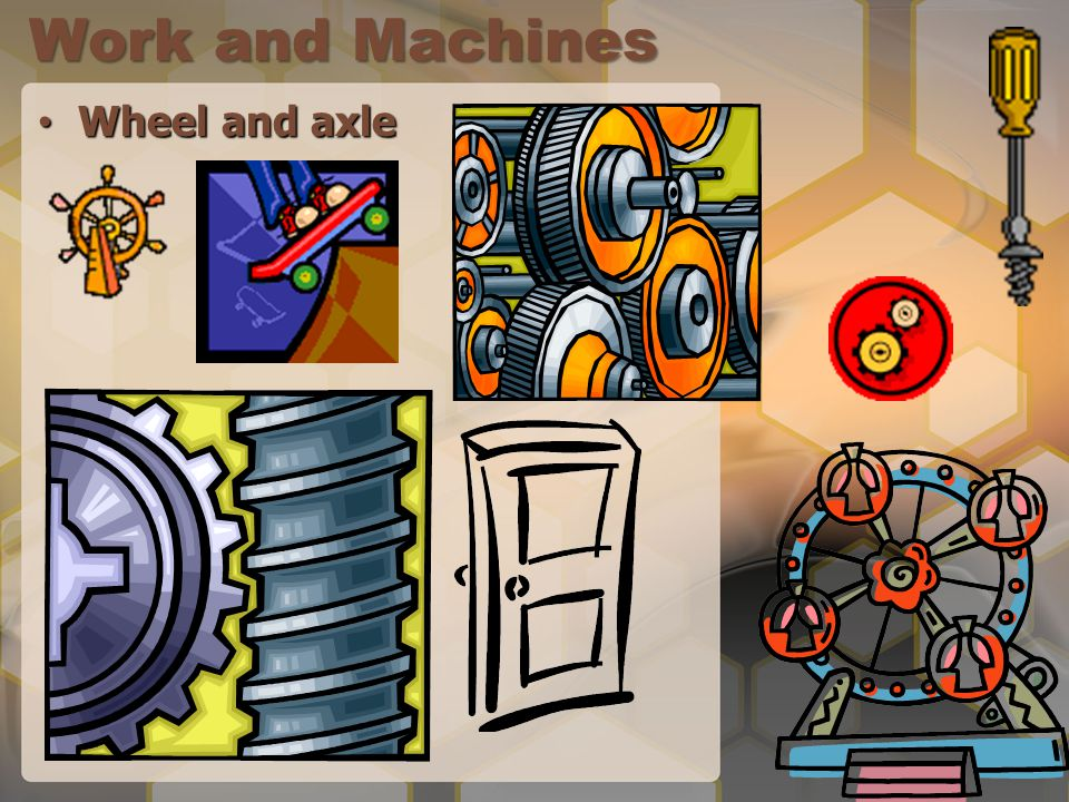 Work and Machines Wheel and axle Wheel and axle