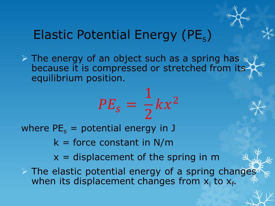 Elastic Potential Energy (PE s )