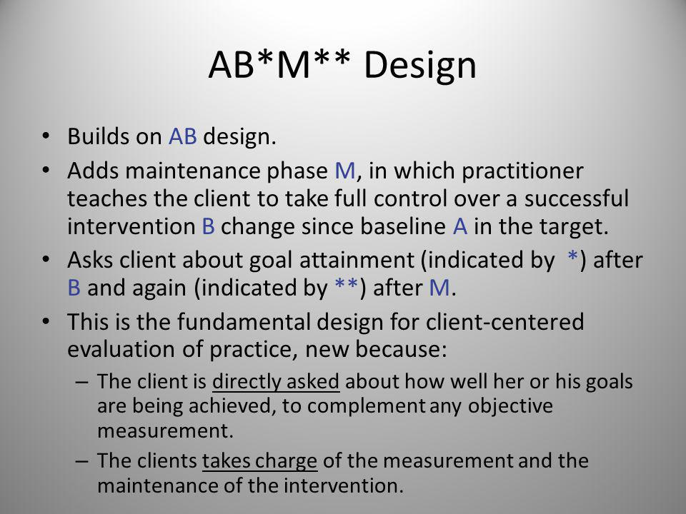 B-Only Design More realistic (in my view) version of authors BABM Emergency Design from Chpt.