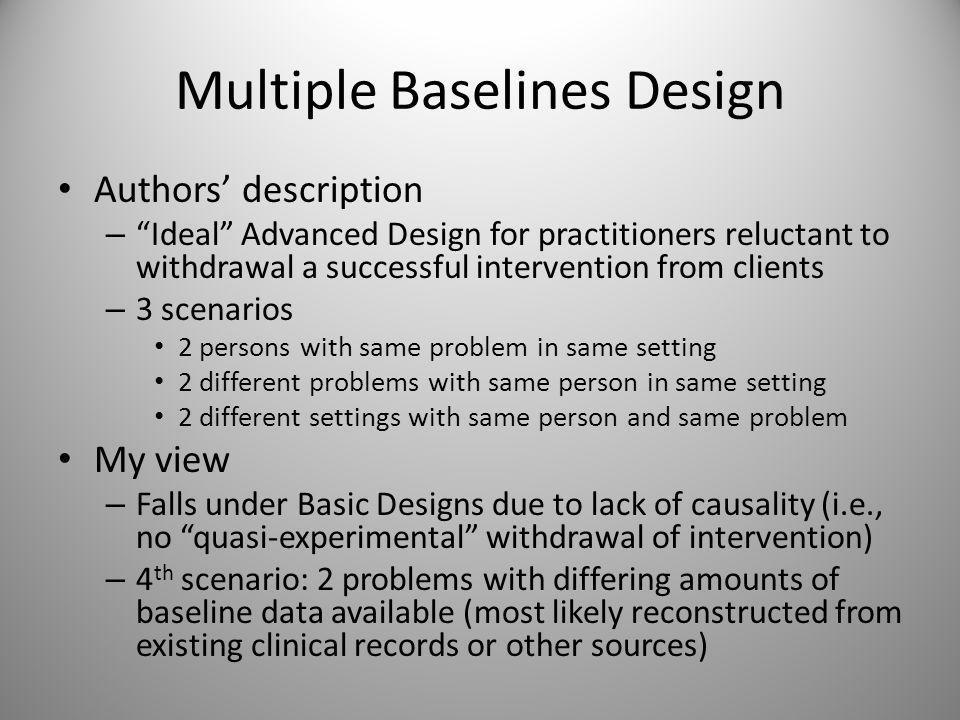 Multiple Baselines (Figure 13.15)