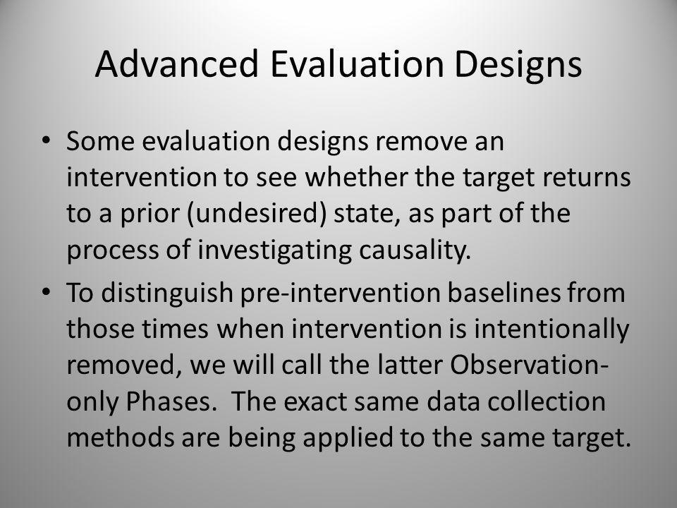 Advanced Evaluation Designs Whos Happy.