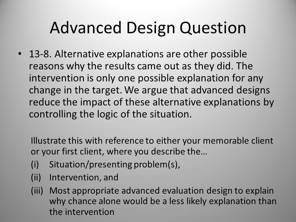 Advanced Design Question 13-7.