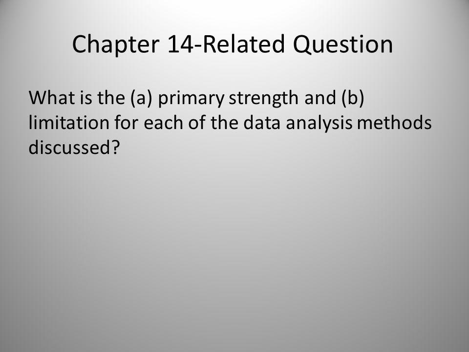 Chapter 14 Discussion Question 14-1.