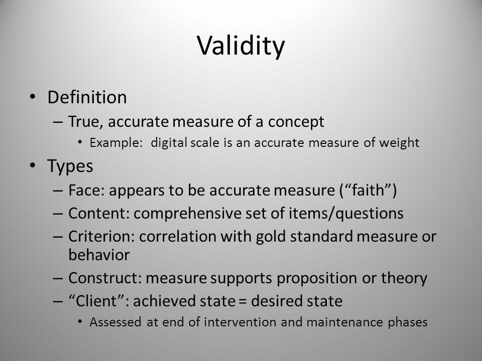 CHAPTER 3: The Issues: Measurement Theory; Validity; Reliability; Error Messages; Sustainability