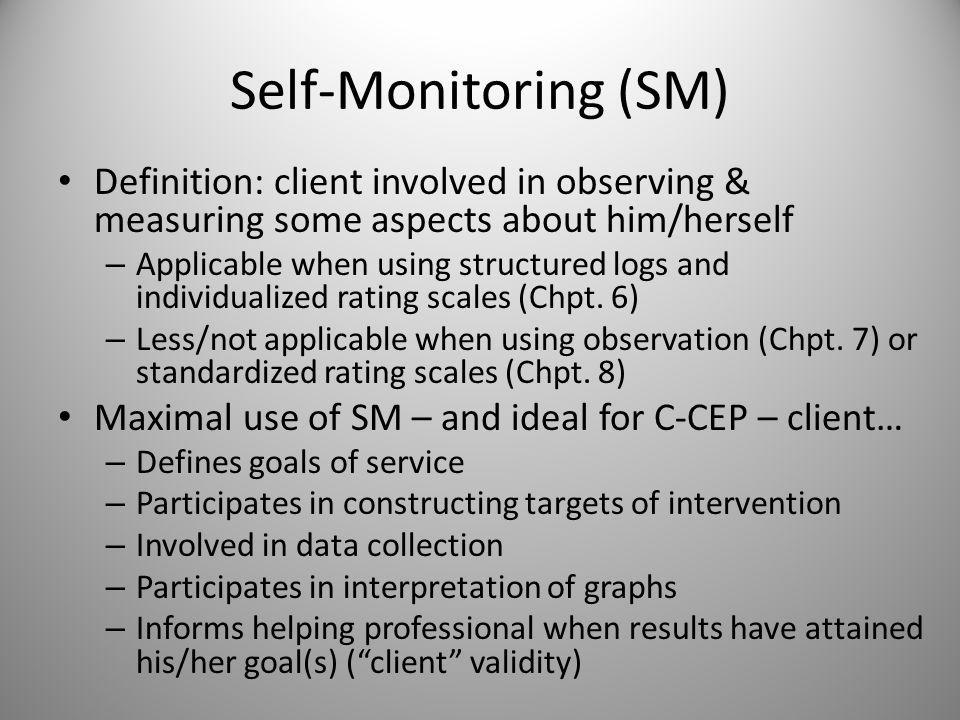 CHAPTER 9: Qualitative Data in Single-System Designs: Self-Monitoring