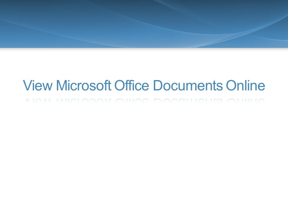 18 Office Web Apps View and Restore Document Versions Place your cursor on a document to reveal the file menu.