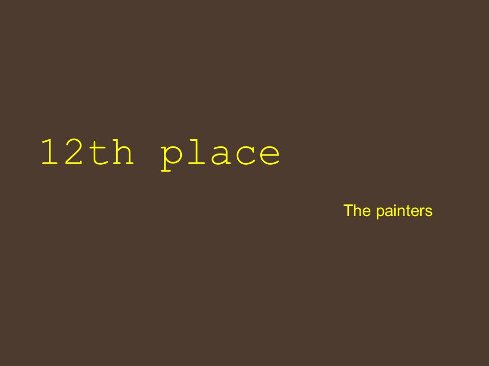 12th place The painters