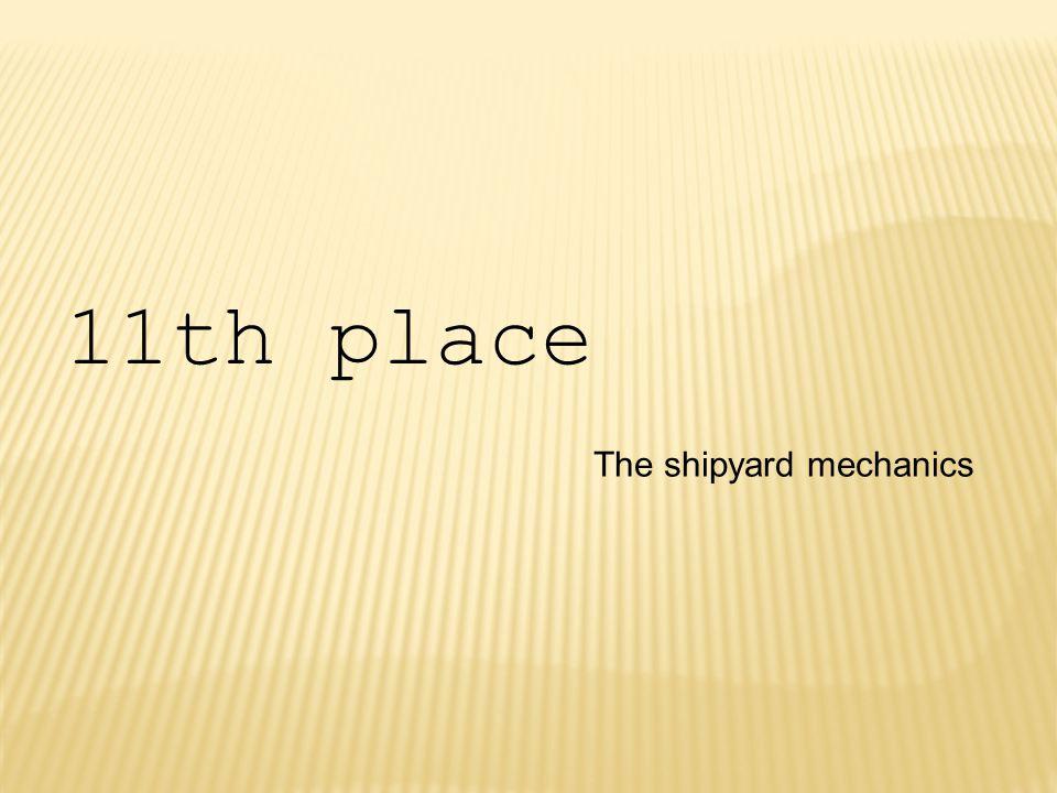 The shipyard mechanics 11th place