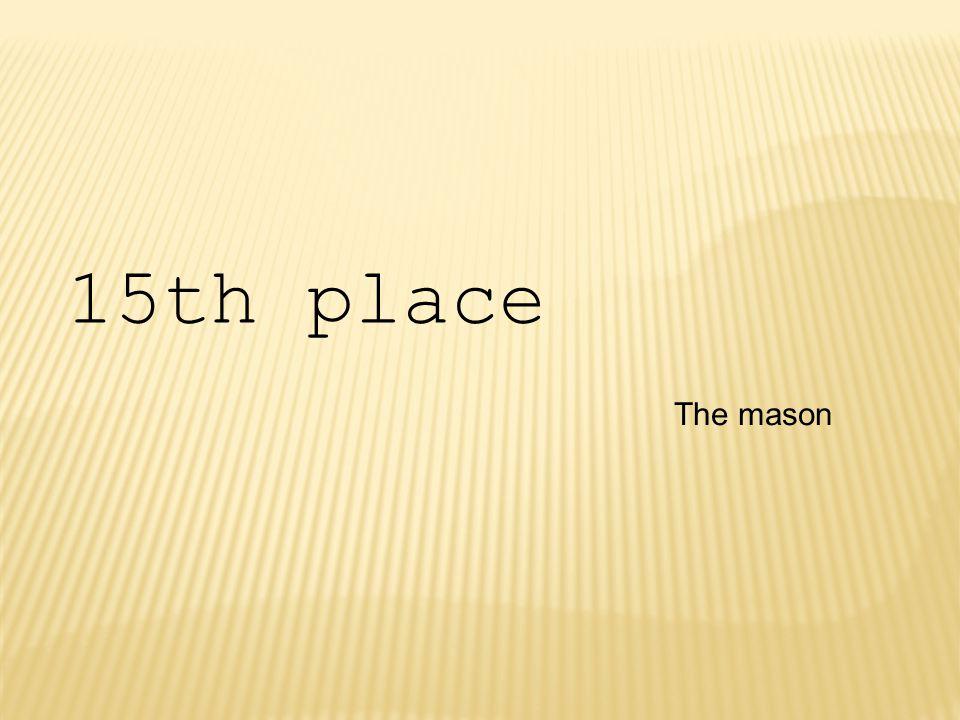 The mason 15th place