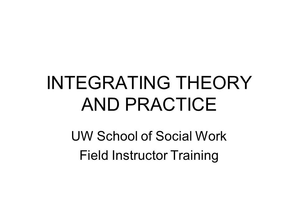Essential Social Work Knowledge, Values, and Skills EXERCISES Before you can teach your students to integrate theory and practice, what do you need to know.