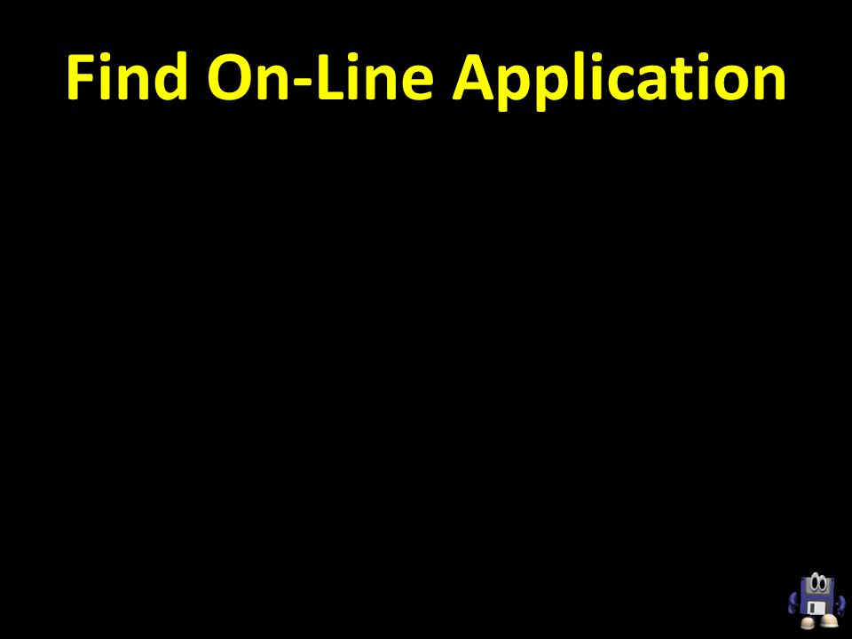 Find On-Line Application