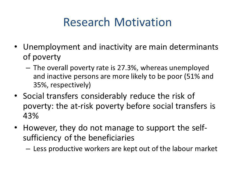 Research objective The potential of MWP policies for reduction of inactivity and social exclusion – Special focus on poor and females