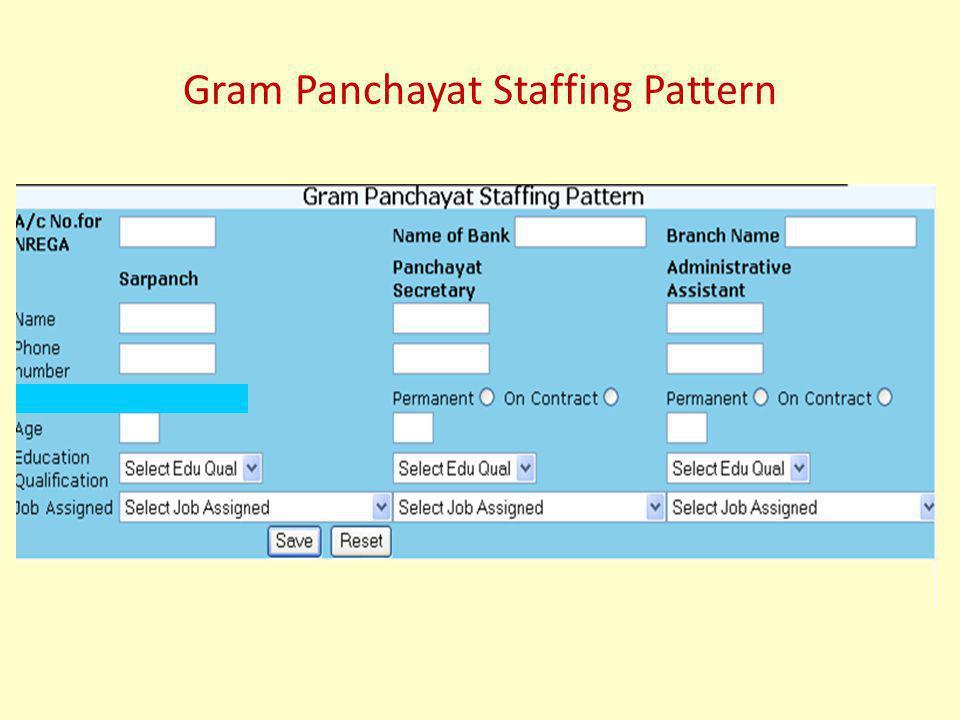 Gram Panchayat Staffing Pattern