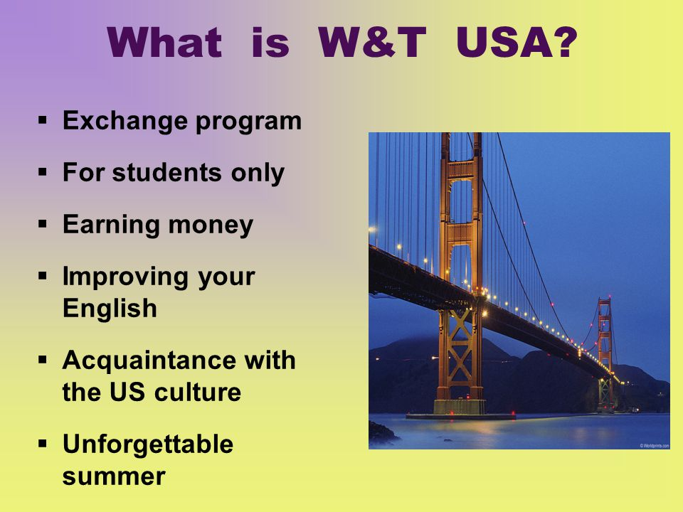 What is W&T USA.