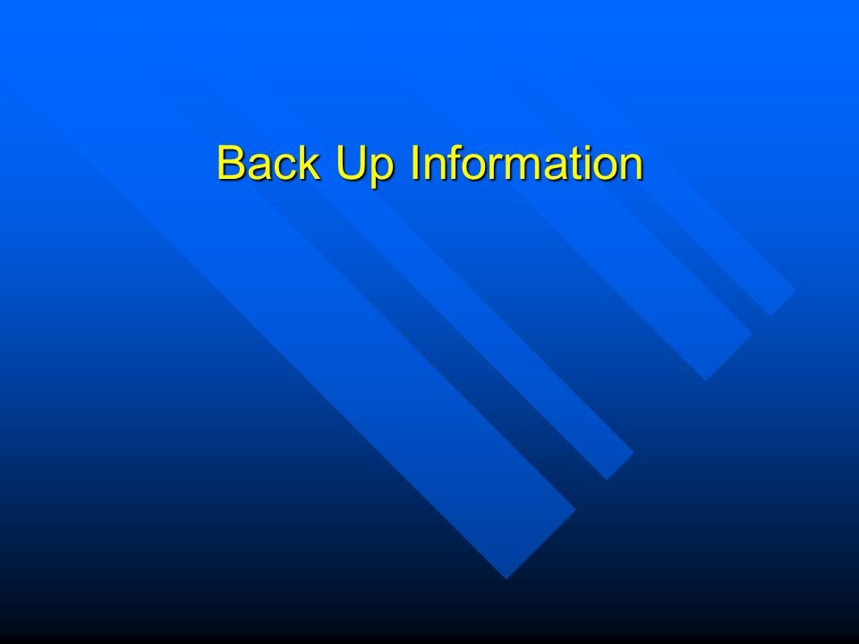 Back Up Information