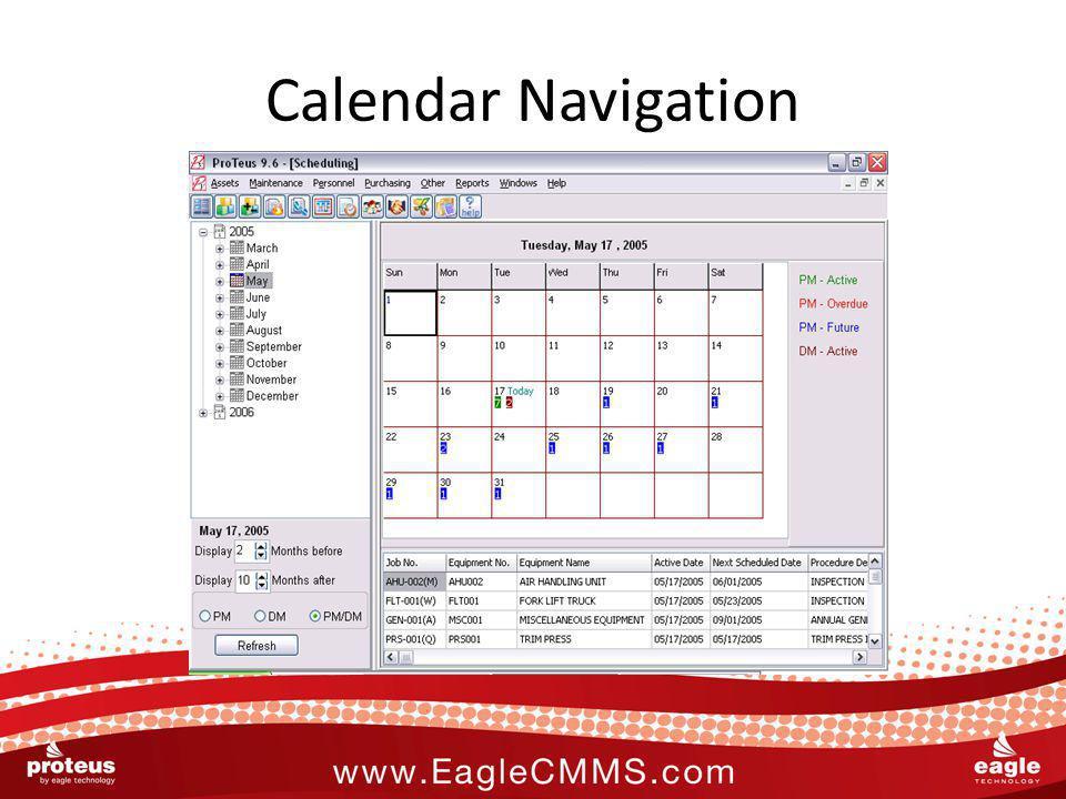 Calendar Navigation
