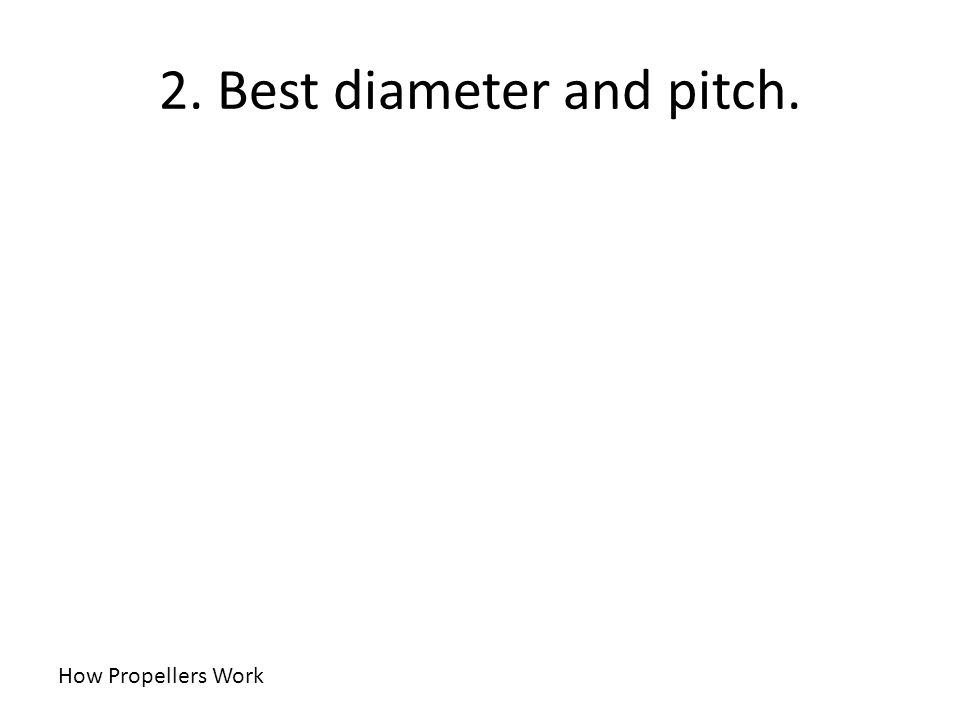 2. Best diameter and pitch. How Propellers Work