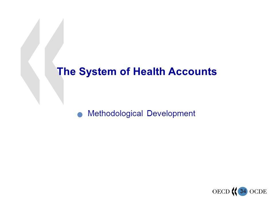 34 The System of Health Accounts Methodological Development