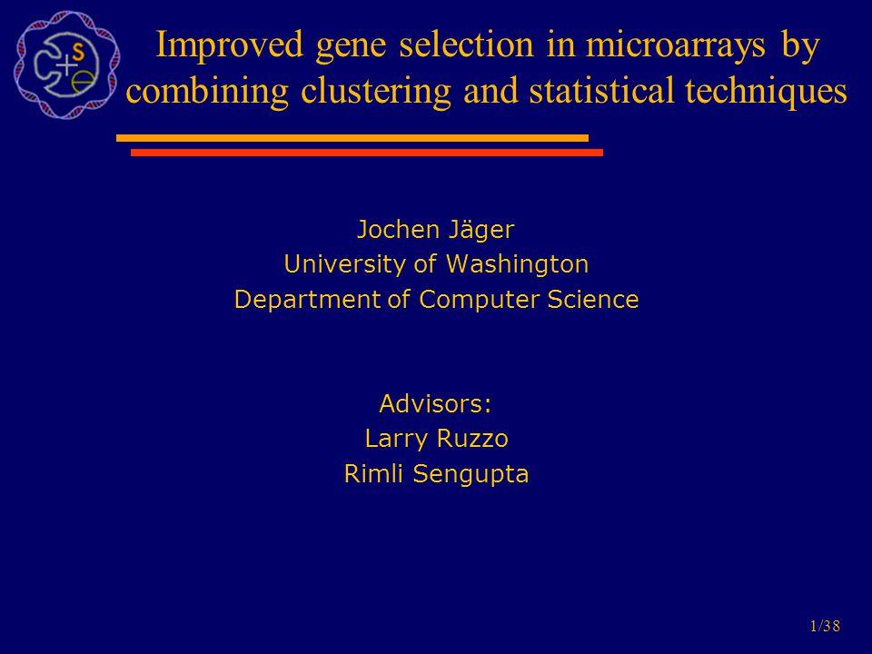12/38 Problem of redundancy Top 3 genes highly correlated!