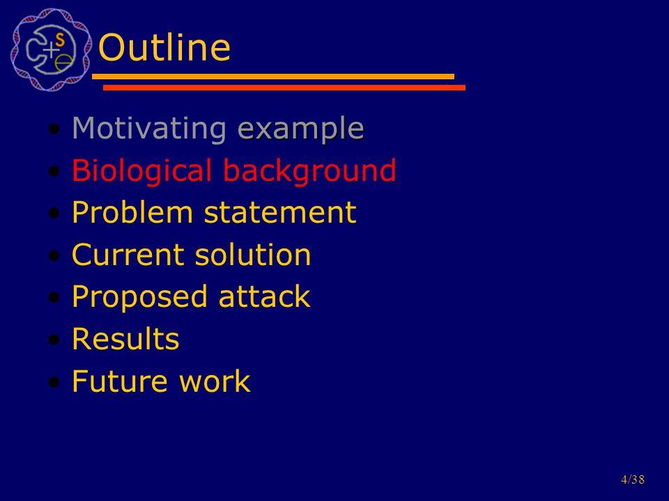 5/38 Biological task Find informative genes (e.g.