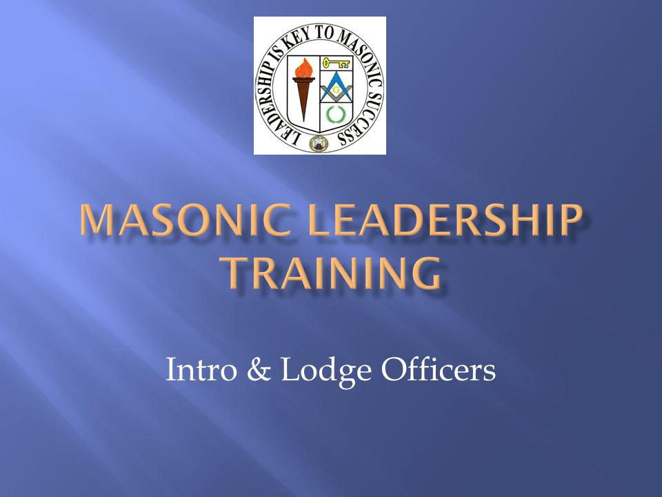 This has been called the beginning of a journey that many have started, but not all finished While your duties may at first glance appear minimal, the reality is that you should spend a great deal of time listening and learning This is also the Brethren s first opportunity to see you as an Officer of the Lodge.