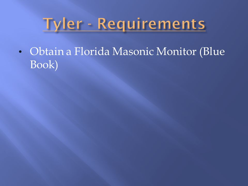 Obtain a Florida Masonic Monitor (Blue Book)