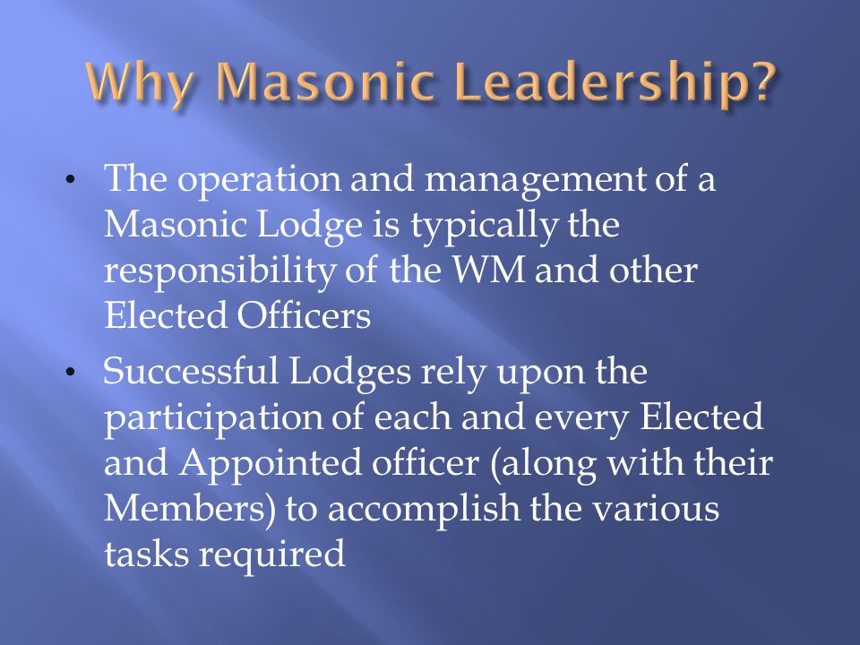 You should become proficient in the ritual of the JD and be able to perform the SD duties You will need to attend schools of instruction in order to gain the necessary knowledge Your path to becoming an Elected Officer is closing in - attend Masonic Education Workshops and become better versed in the Digest