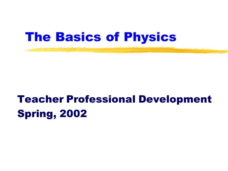 The Basics of Physics Teacher Professional Development Spring, 2002