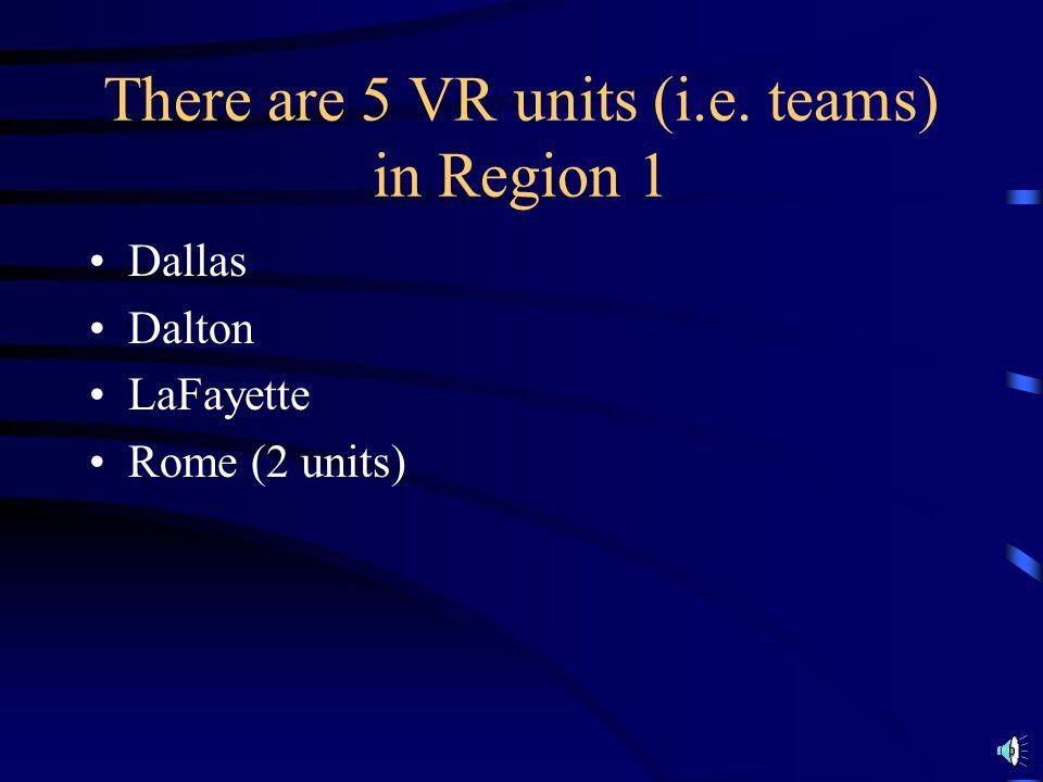 N.W. Georgia is Region #1