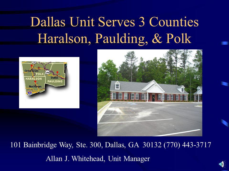 There are 5 VR units (i.e. teams) in Region 1 Dallas Dalton LaFayette Rome (2 units)