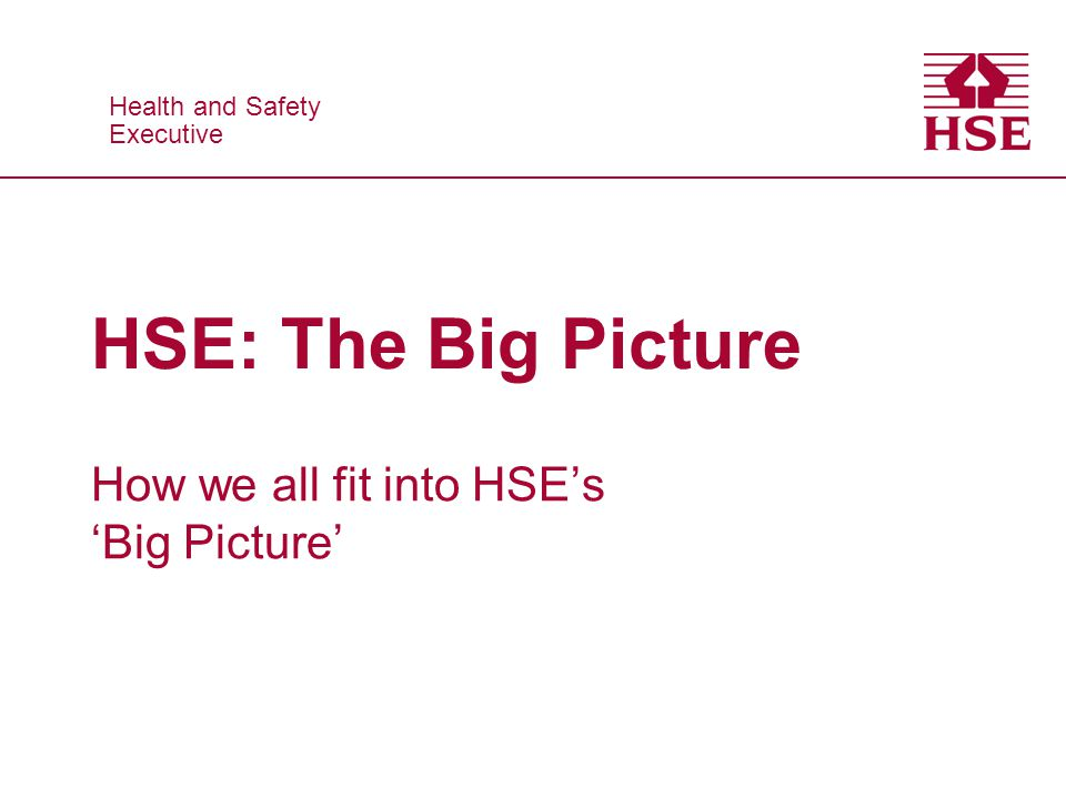 Health and Safety Executive Health and Safety Executive HSE: The Big Picture How we all fit into HSEs Big Picture