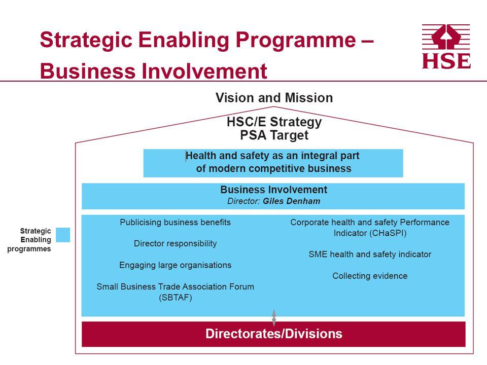 Strategic Enabling Programme – Business Involvement