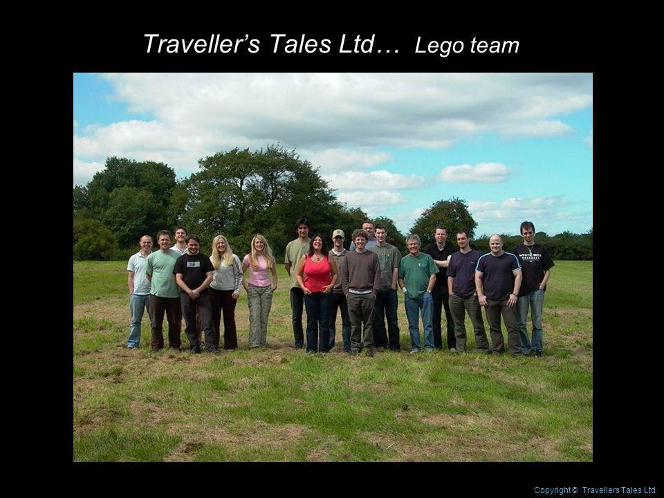 Travellers Tales Ltd… Lego team Copyright © Travellers Tales Ltd