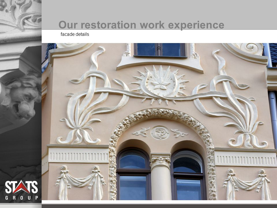 facade details Our restoration work experience