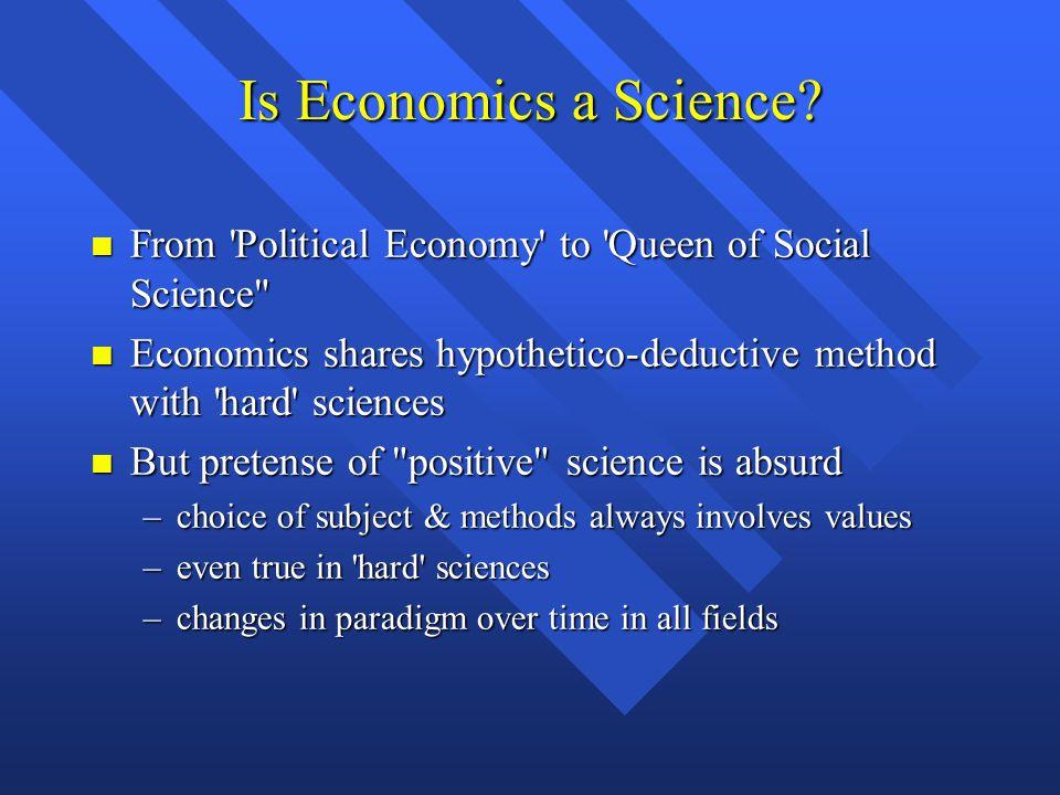 Is Economics a Science.