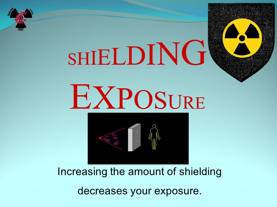 SHIELDINGEXPOSURESHIELDINGEXPOSURE Increasing the amount of shielding decreases your exposure.