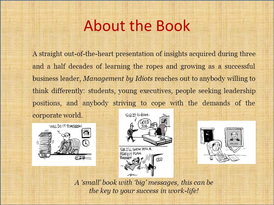 About the Book A straight out-of-the-heart presentation of insights acquired during three and a half decades of learning the ropes and growing as a su